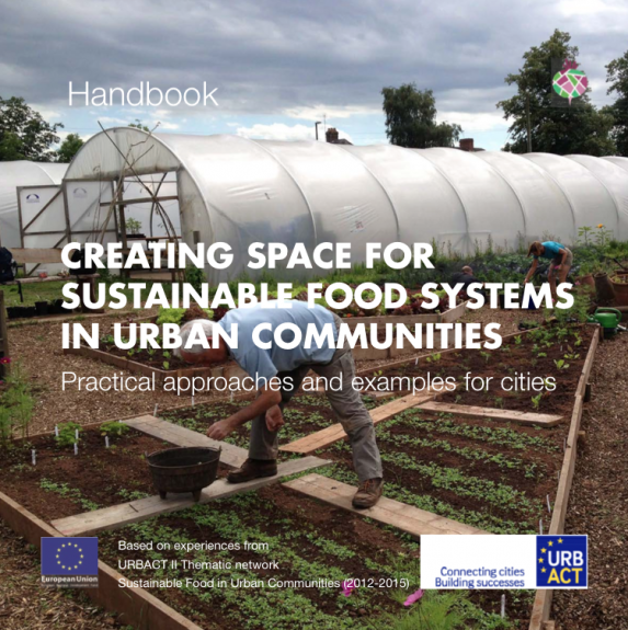 Cover of the Handbook, Creacting Space For Sustainable Food Systems In Urban Communities